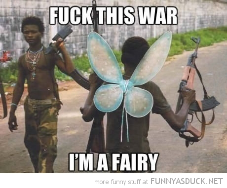 soldier toy wings back gun fuck this war i'm fairy funny pics pictures pic picture image photo images photos lol