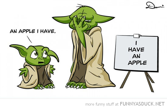 star wars young yoda school teaching i have an apple funny pics pictures pic picture image photo images photos lol