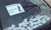 wanna play a game saw poster car window traffic warden funny pics pictures pic picture image photo images photos lol