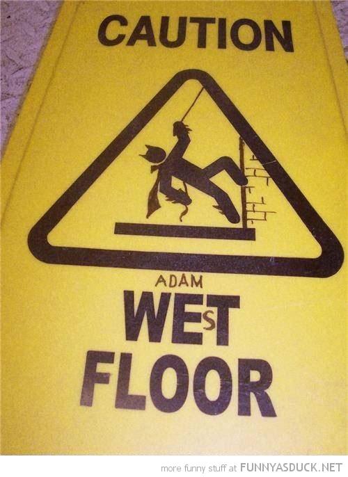 caution wet floor sign adam west batman funny pics pictures pic picture image photo images photos lol