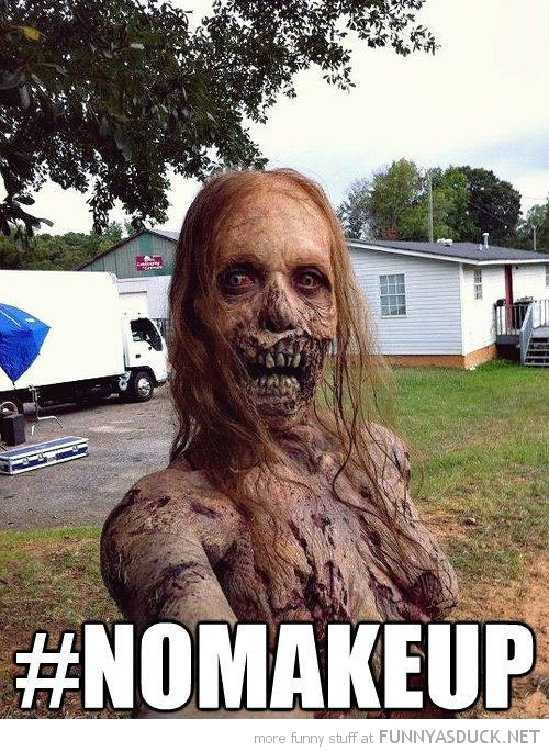 zombie selfie no make up hashtag twitter funny pics pictures pic picture image photo images photos lol