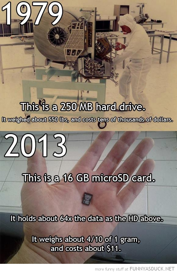 1979 vs 2013 hard drives science computing funny pics pictures pic picture image photo images photos lol