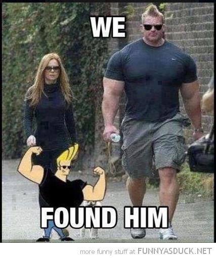 body builder muscle man we found him johnny bravo tv cartoon network funny pics pictures pic picture image photo images photos lol