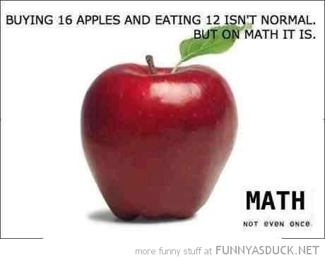 buying 16 apples eating 12 math not even once funny pics pictures pic picture image photo images photos lol