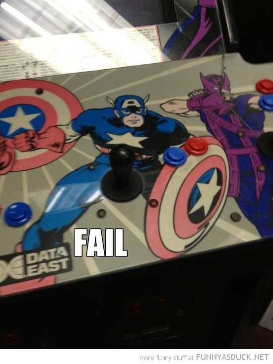 coin-op game captain america joystick fail funny pics pictures pic picture image photo images photos lol