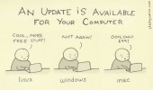 update available computer comic linux windows mac funny pics pictures pic picture image photo images photos lol