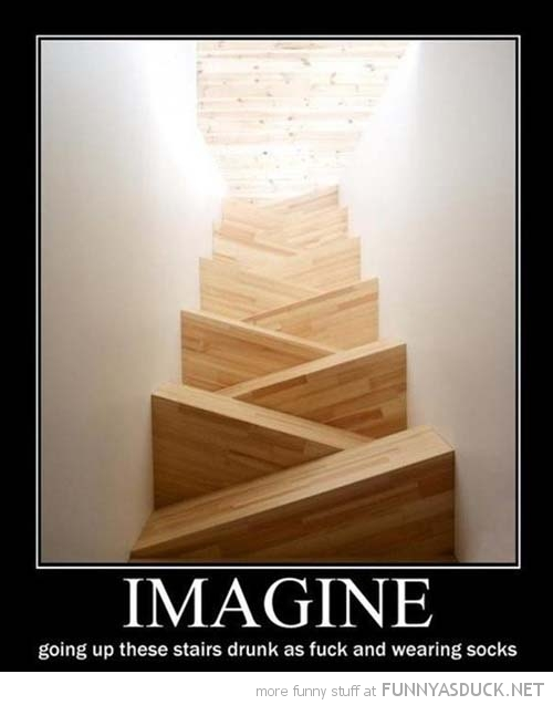 crazy sloped stairs imagine going up drunk socks funny pics pictures pic picture image photo images photos lol