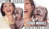 creepy dog animal murder whole family pics funny pics pictures pic picture image photo images photos lol