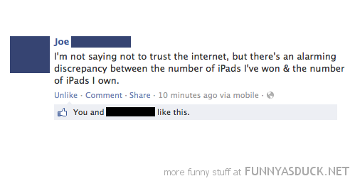 don't trust internet no ipads apple facebook status funny pics pictures pic picture image photo images photos lol