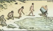 evolution of man comic fish trash garbage water funny pics pictures pic picture image photo images photos lol