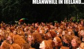 ginger red haired girls crowd meanwhile in ireland funny pics pictures pic picture image photo images photos lol