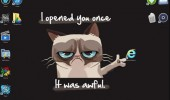 grumpy angry cat desktop wallpaper clicked one awful internet explorer funny pics pictures pic picture image photo images photos lol