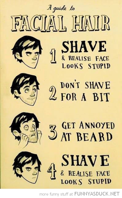 guide to facial hair comic shave face looks stupid funny pics pictures pic picture image photo images photos lol