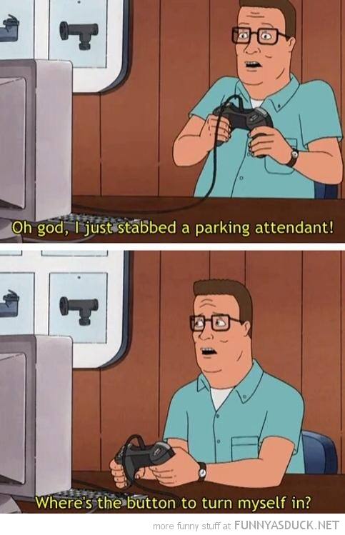 hank kill hill gaming grand theft auto turn myself in tv funny pics pictures pic picture image photo images photos lol