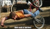 man falling off bike that rock perfect collection funny pics pictures pic picture image photo images photos lol