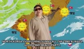 north korea weather report sunny beach party funny pics pictures pic picture image photo images photos lol