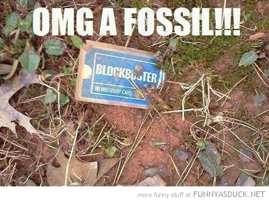 old blockbuster card dirt ground omg fossil funny pics pictures pic picture image photo images photos lol