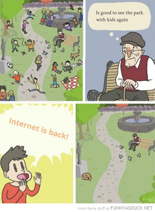 old man kids good park internets back funny pics pictures pic picture image photo images photos lol