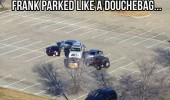 parked car surrounded last time park douchbag parking lot funny pics pictures pic picture image photo images photos lol
