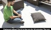 put flattened pillow sun life hack tip funny pics pictures pic picture image photo images photos lol