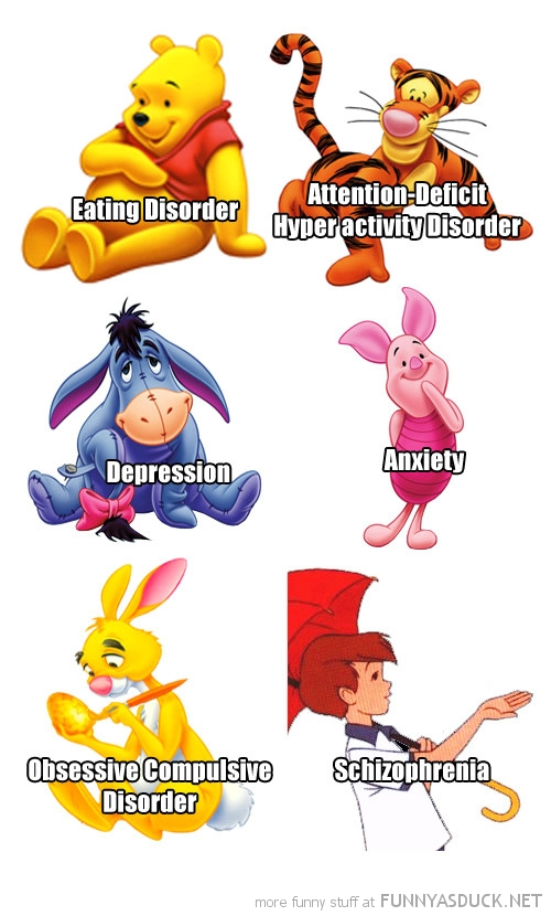 real winnie pooh disney friends mental illness film funny pics pictures pic picture image photo images photos lol