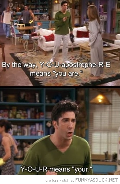 ross friends you're your tv scene funny pics pictures pic picture image photo images photos lol