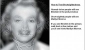 short sightedness test einstein marylin monroe funny pics pictures pic picture image photo images photos lol