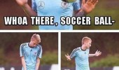 soccer footbal player whoa there ball really now funny pics pictures pic picture image photo images photos lol