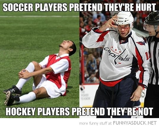soccer football player pretend hurt hockey don't sport funny pics pictures pic picture image photo images photos lol