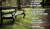 stranger  bench envelope look accident prank funny pics pictures pic picture image photo images photos lol