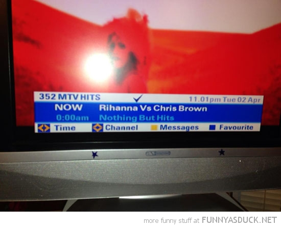 tv guide now next chris brown rihanna nothing but hits funny pics pictures pic picture image photo images photos lol
