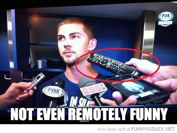 tv remote man news report interview  funny pics pictures pic picture image photo images photos lol