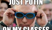 vladimir putin putting on glasses pun funny pics pictures pic picture image photo images photos lol