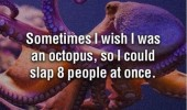 wish octopus slap 8 people at once quote funny pics pictures pic picture image photo images photos lol