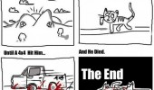 16 lives cat comic hit 4x4 funny pics pictures pic picture image photo images photos lol