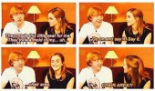 rupert grint emma watson harry potter interview chair area funny pics pictures pic picture image photo images photos lol
