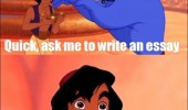 aladdin genie disney ask write essay no way free movie funny pics pictures pic picture image photo images photos lol
