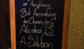 technically alcohol is a solution bar pub sign funny pics pictures pic picture image photo images photos lol