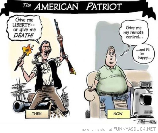 american patriot then now give me liberty remote comic funny pics pictures pic picture image photo images photos lol