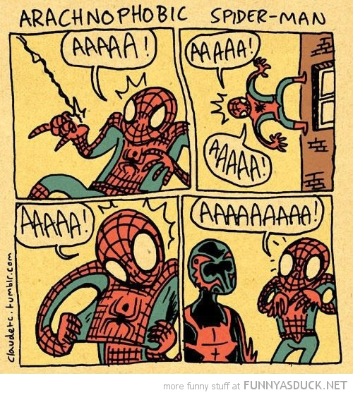 arachnophobic spider man comic funny pics pictures pic picture image photo images photos lol