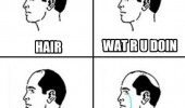 bald man comic hair wat r u doin stahp funny pics pictures pic picture image photo images photos lol