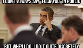 barack obama president middle finger up fuck you discretely funny pics pictures pic picture image photo images photos lol