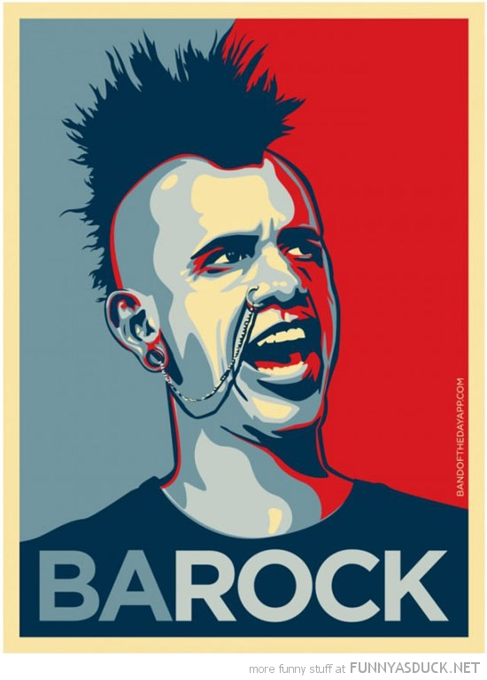 barack obama poster barock punk rocker funny pics pictures pic picture image photo images photos lol