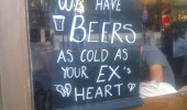 beer as cold as ex's heart pub bar sign funny pics pictures pic picture image photo images photos lol