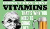 beer doesn't have any vitamins need to drink lots quote funny pics pictures pic picture image photo images photos lol
