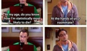 big bang theory sheldon most likely to die accident tv funny pics pictures pic picture image photo images photos lol