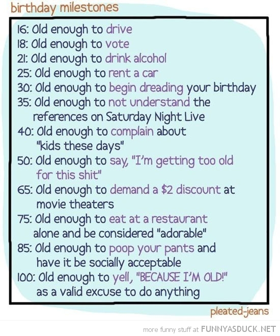 birthday milestones comic funny pics pictures pic picture image photo images photos lol