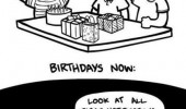 birthdays then and now comic presents notifications facebook funny pics pictures pic picture image photo images photos lol