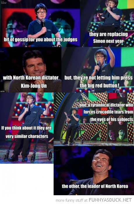 britains got talent jack carroll simon cowell kim jong-un north korea tv funny pics pictures pic picture image photo images photos lol