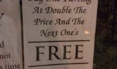 buy one piercing double price get one free sign funny pics pictures pic picture image photo images photos lol